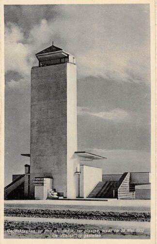Ansichtkaart Den Oever Gedenkteeken op den Afsluitdijk ter plaatse, waar op 28 Mei 1932 De Vlieter is gesloten Wieringen IJsselmeer HC12980