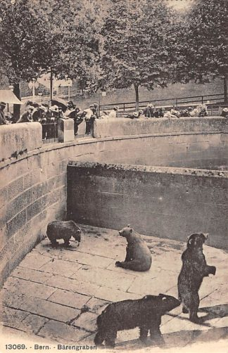 Ansichtkaart Zwitserland Bern Barengraben Berenkuil 1923 Dierentuin Zoo Suisse Switzerland EuropaSchweiz  HC12983