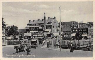 Ansichtkaart Dordrecht Engelenburgerweg Paard en wagen Auto bus HC13008