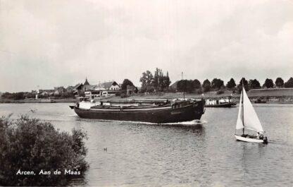 Ansichtkaart Arcen Aan de Maas Binnenvaartschip Fiat Scheepvaart 1964 HC13071