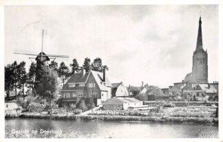 Ansichtkaart Gezicht op Doesburg Kerk en molen HC13084