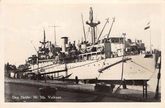 Ansichtkaart Den Helder Hr. Ms. Vulkaan 1950 Marine Scheepvaart HC13089