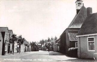 Ansichtkaart Retranchement Dorpsstraat met Ned. Hervormde Kerk 1969 HC13093
