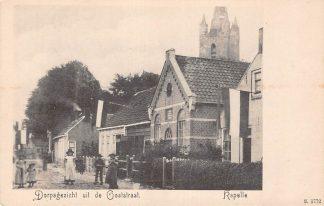 Ansichtkaart Kapelle (ZL) Dorpsgezicht uit de Ooststraat Kerk HC13106