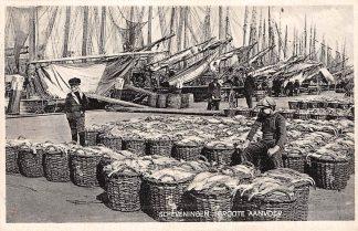 Ansichtkaart Scheveningen Haven Groote aanvoer Vissers schepen 1929 HC13113
