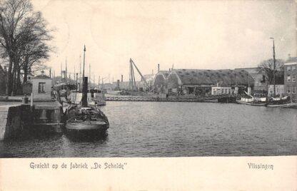 Ansichtkaart Vlissingen Gezicht op de fabriek De Schelde Scheepswerf Sleepboot Schepen HC13115
