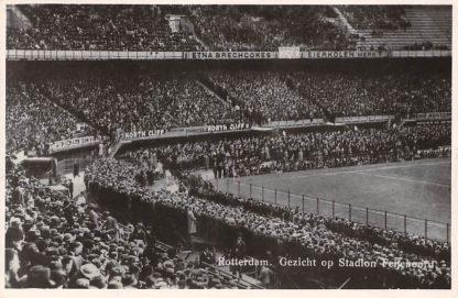 Ansichtkaart Rotterdam Gezicht op Stadion Feijenoord Feyenoord 1950 Voetbal Soccer Sport HC13128