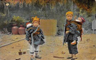 Ansichtkaart China Chinese meisjes Azië Rheinische Mission Duitsland HC13146