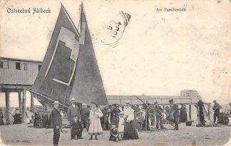 Ansichtkaart Duitsland Ostseebad Ahlbeck Am Familienbad Vissers schip Strand Heringsdorf Deutschland Europa HC13220