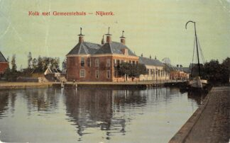 Ansichtkaart Nijkerk Kolk Gemeentehuis 1912 HC13228