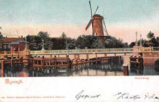 Ansichtkaart Rijswijk (ZH) Hoornbrug met Molen 1905 HC13254