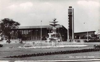Ansichtkaart Venlo Fontein met Station Spoorwegen HC13289