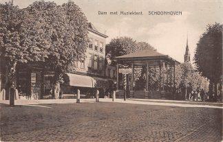 Ansichtkaart Schoonhoven Dam met Muziektent 1929 HC13316
