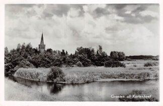 Ansichtkaart Kortenhoef Groeten uit 1962 Wijdemeren Hilversum HC13339