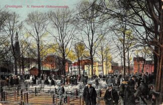 Ansichtkaart Groningen Nieuwe Veemarkt Schapenmarkt Markt 1917 HC13416