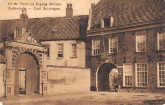 Ansichtkaart Groningen Garde Poort en Ingang Militair Ziekenhuis HC13541