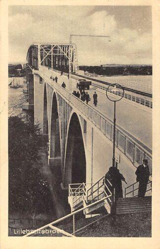 Ansichtkaart Denemarken Middelfart Lillebaeltsbroen 1947 Danemark Europa HC13546