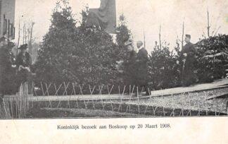 Ansichtkaart Boskoop Koninklijk bezoek aan Boskoop op 20 maart 1908 HC13563