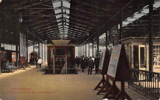 Ansichtkaart Rotterdam Hofplein Perron Z.H.E.S. Station Trein Spoorwegen 1914 HC13573