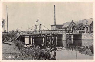 Ansichtkaart Oostermeer Brug met Zuivelfabriek 1943 Tietjerksteradeel HC13581