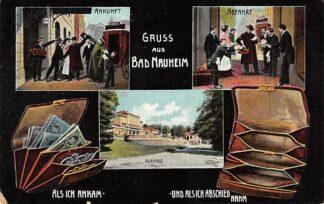 Ansichtkaart Duitsland Bad Nauheim Kurhaus Ankunft Abfahrt Deutschland Europa HC13606
