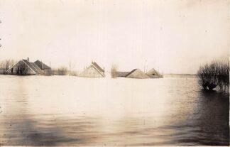 Ansichtkaart Reeuwijk 1926 Overstroming polders Broekvelden en Vettenbroek Fotokaart HC13607