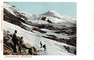 Ansichtkaart Zwitserland Ascencion du Mont Blanc Bergbeklimmers Schweiz Switserland Europa HC13608