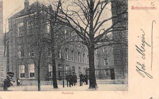 Ansichtkaart Schoonhoven Kazerne met soldaten Militair 1904 HC13610