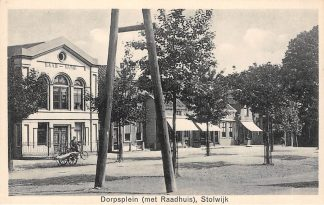 Ansichtkaart Stolwijk Dorpsplein met Raadhuis Krimpenerwaard HC13620