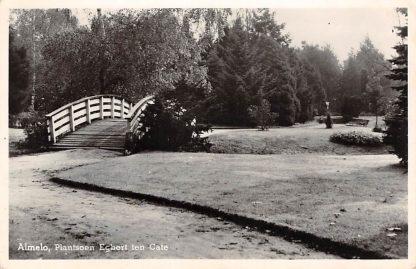 Ansichtkaart Almelo Plantsoen Egbert ten Cate 1952 HC13625