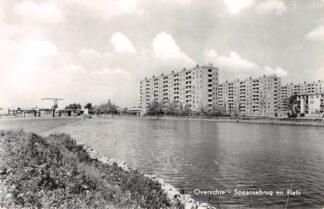 Ansichtkaart Rotterdam Overschie Spaansebrug en Flats 1968 HC13630