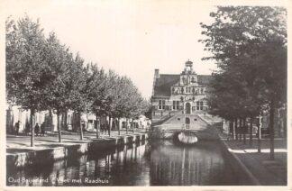 Ansichtkaart Oud-Beijerland Vliet met Raadhuis 1953 Hoeksche Waard HC13635