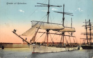 Ansichtkaart Rotterdam Groeten uit 1918 Zeilschepen Scheepvaart Schepen HC13637