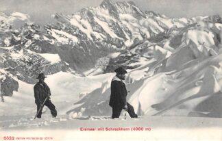 Ansichtkaart Zwitserland Eismeer mi Schreckhorn 4080 m Bergbeklimmers Schweiz Switzerland Suisse Europa HC13640
