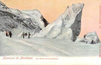 Ansichtkaart Zwitserland Acension duMontblanc Les Seracs de la Junction Bergbeklimmers Suisse Switzerland Schweiz Europa HC13641