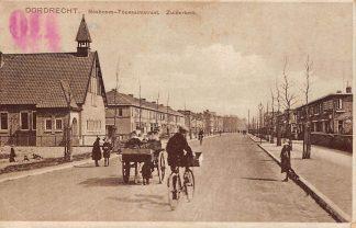 Ansichtkaart Dordrecht Bosboom Toussaintstraat met Zuiderkerk en hondenkar HC13682