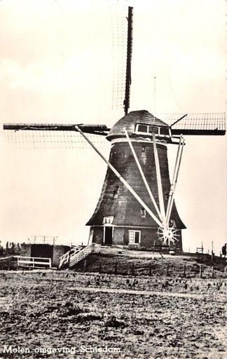 Ansichtkaart Schiedam Molen in de omgeving 1958 HC13705
