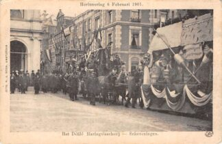 Ansichtkaart Den Haag Het Defile Haringvisserij - Scheveningen Herinnering 9 Februari 1901 HC13707