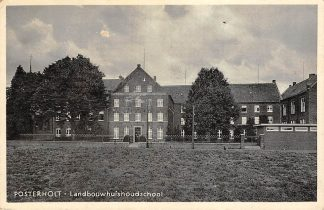 Ansichtkaart Posterholt Landbouwhuishoudschool School 1937 Roerdalen Limburg HC13729