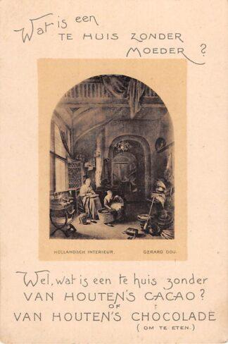 Ansichtkaart Wormerveer Reclame Van Houten's Cacao en Chocolade HC13743