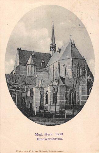 Ansichtkaart Brouwershaven Ned. Hervormde Kerk HC13744