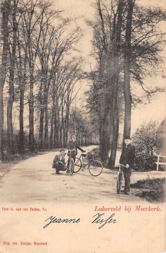 Ansichtkaart Lakerveld bij Meerkerk Fietsers 1902 Alblasserwaard HC13745