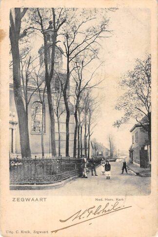 Ansichtkaart Zoetermeer Zegwaart Ned. Hervormde Kerk 1902 HC13747