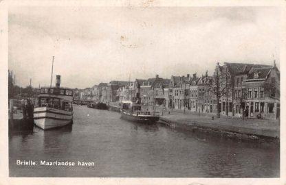 Ansichtkaart Brielle Maarlandse Haven Binnenvaart schepen Scheepvaart 1949 HC13759