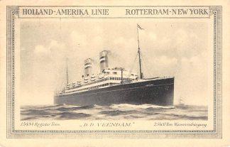 Ansichtkaart Rotterdam - New York Holland Amerika Linie Holland America Line D.D. Veendam 1927 Scheepvaart Schepen HC13796
