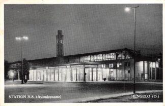 Ansichtkaart Hengelo (OV) Station N.S. Avondopname Spoorwegen HC13767