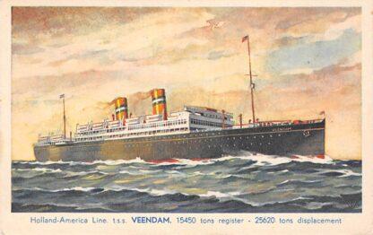 Ansichtkaart Rotterdam Holland America Line t.s.s. Veendam Scheepvaart Schepen HC13769