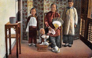 Ansichtkaart China Chin. Christin (Bibelfrau) mit ihren Kindern Azie HC13815