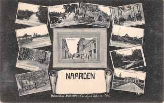 Ansichtkaart Naarden 13-luik met o.a. Station Tol HC13823