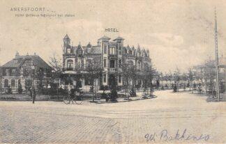 Ansichtkaart Amersfoort Hotel Bellevue tegenover het Station 1906 HC13826